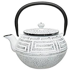 Tetera hierro fundido 0 65l blanca teagarden - Tetera japonesa hierro fundido ...
